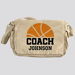 Personalized Basketball Coach Gift Messenger Bag