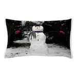 Happy Snowman Pillow Case