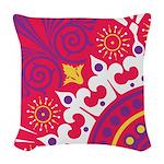 Sexy Red Baroque Woven Throw Pillow