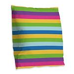 Loud Striped Burlap Throw Pillow