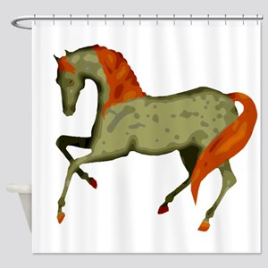 Baroque Dancing Horse Shower Curtain