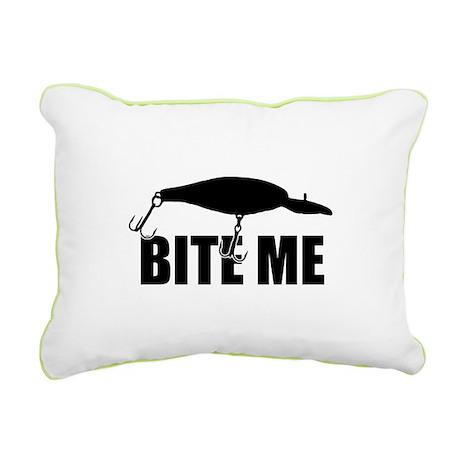 Bite me Rectangular Canvas Pillow