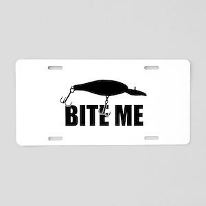 Bite me Aluminum License Plate