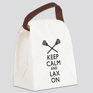 Keep Calm And Lax On Canvas Lunch Bag