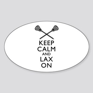 Keep Calm And Lax On Sticker (Oval)