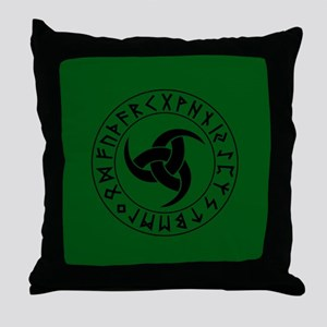 Button2¼ Green Throw Pillow