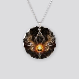 Dragons Light Necklace Circle Charm