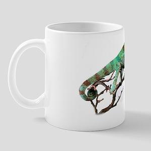 Ambanja Pnahter Chameleon White Backgro Mug