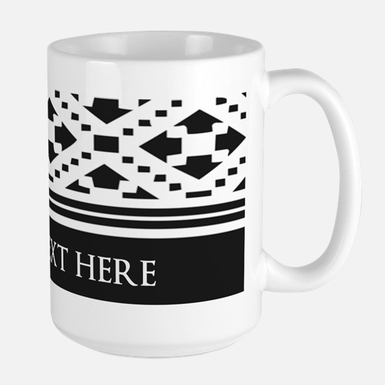 Custom Text Geometric Large Mug