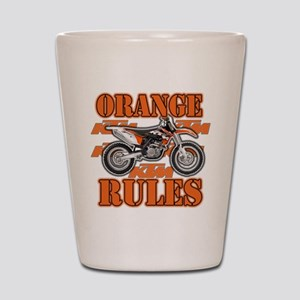Orange Rules Shot Glass