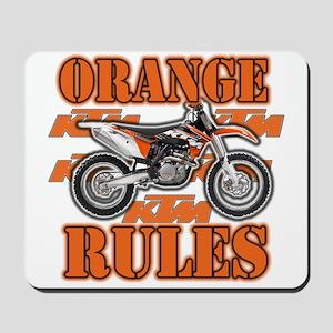Orange Rules Mousepad