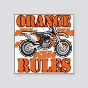 Orange Rules Sticker