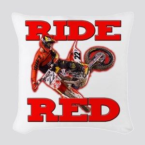 Ride Red 2013 Woven Throw Pillow