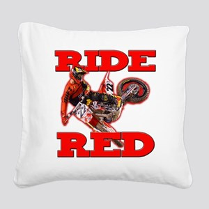 Ride Red 2013 Square Canvas Pillow