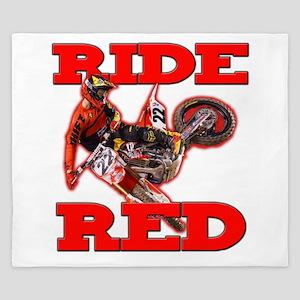 Ride Red 2013 King Duvet