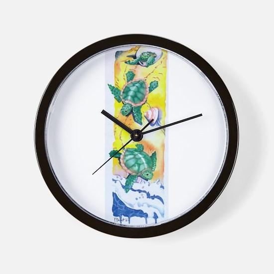 turtles Wall Clock