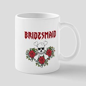 Bridesmaid Roses Skull Mugs