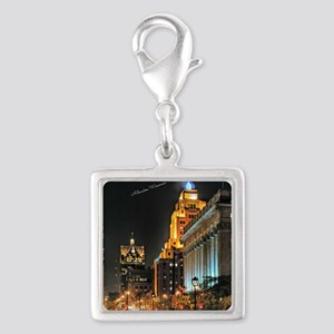 Milwaukee, Wisconsin Cityscap Silver Square Charm