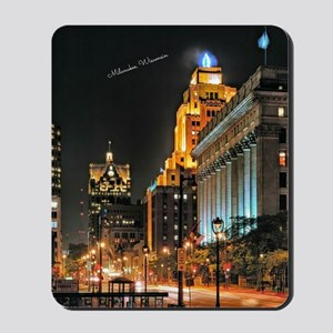 Milwaukee, Wisconsin Cityscape at Night Mousepad