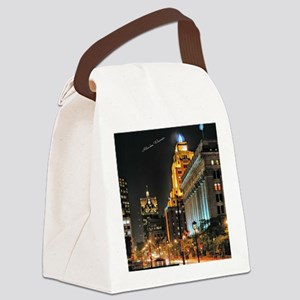 Milwaukee, Wisconsin Cityscape at Canvas Lunch Bag