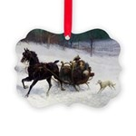 Carriage Ride Borzoi Ornament