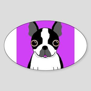 Boston Terrier (Black) Rectangle Sticker