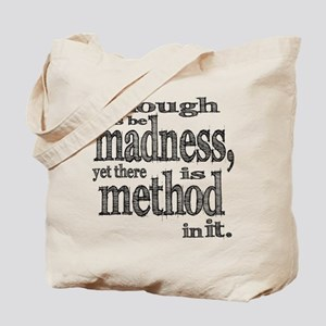 Method in Madness Shakespeare Tote Bag