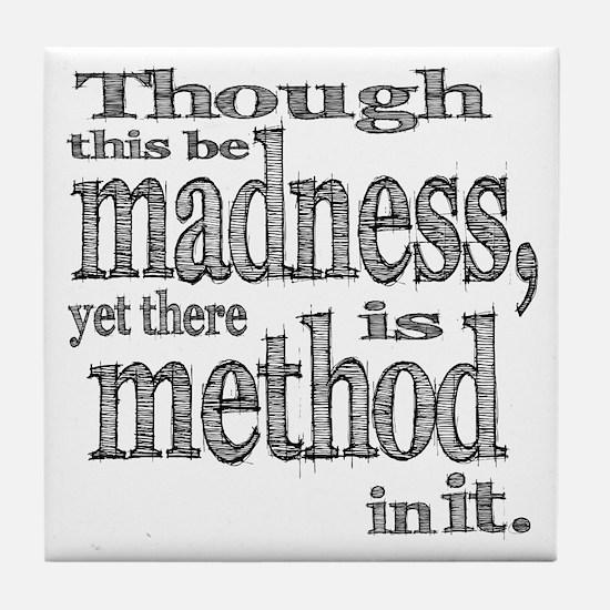 Method in Madness Shakespeare Tile Coaster