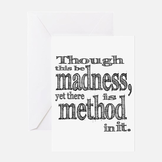 Method in Madness Shakespeare Greeting Card
