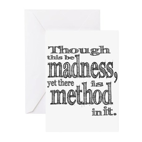 Method in Madness Shakespeare Greeting Cards (Pk o