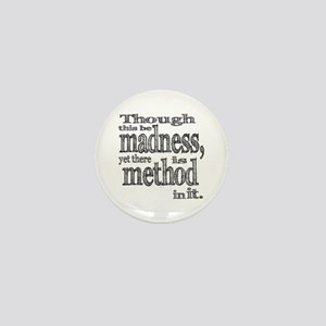 Method in Madness Shakespeare Mini Button