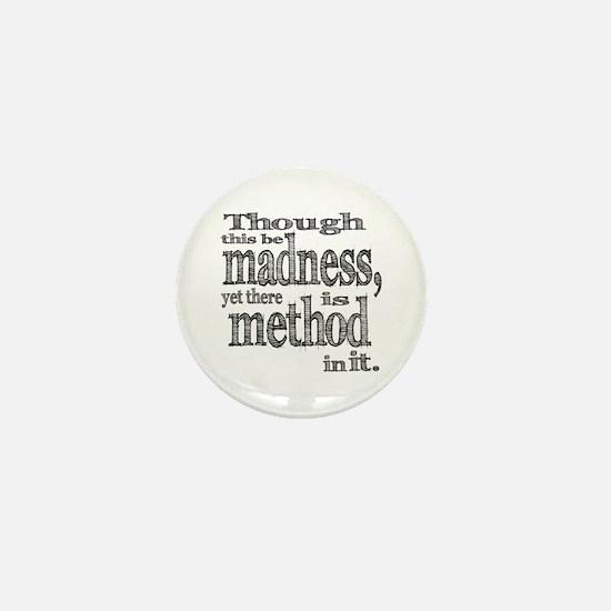 Method in Madness Shakespeare Mini Button