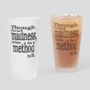 Method in Madness Shakespeare Drinking Glass