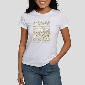 Christmas Typography Gold Women's T-Shirt
