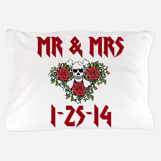 Mr. Mrs. Personalized Dates Pillow Case
