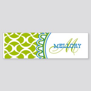 Stylish Custom Monogram Sticker (Bumper)