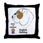 English Bulldog Throw Pillow