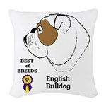 English Bulldog Woven Throw Pillow