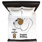 English Bulldog King Duvet