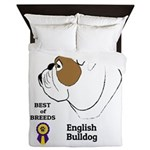 English Bulldog Queen Duvet