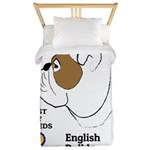 English Bulldog Twin Duvet