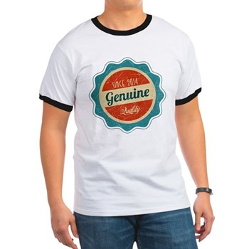 Retro Genuine Quality Since 2014 Ringer T-Shirt