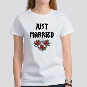 Just Married Skull T-Shirt