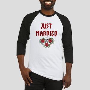 Just Married Skull Baseball Jersey
