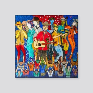 """Country night somewhere in  Square Sticker 3"""" x 3"""""""