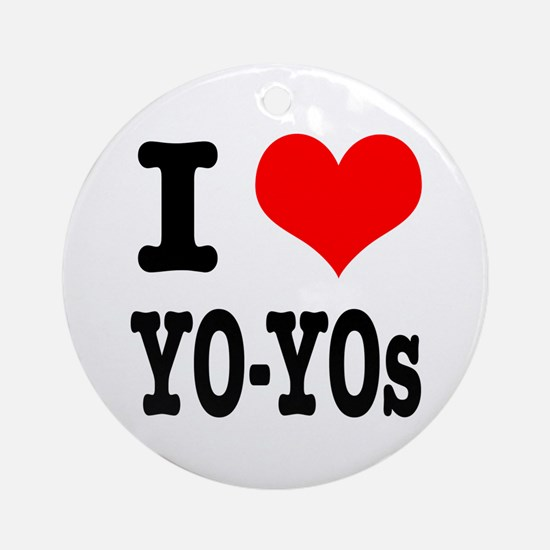 I Heart (Love) Yo-yo's Ornament (Round)