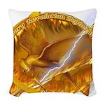 Catching Fire Mockingjay Woven Throw Pillow