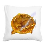 Catching Fire Mockingjay Square Canvas Pillow