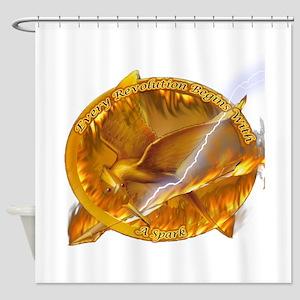 Catching Fire Mockingjay Shower Curtain