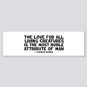 quote_darwin_man_white Bumper Sticker